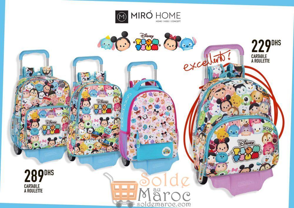 Super Offre Miro Home Cartables à roulette Disney 229Dhs