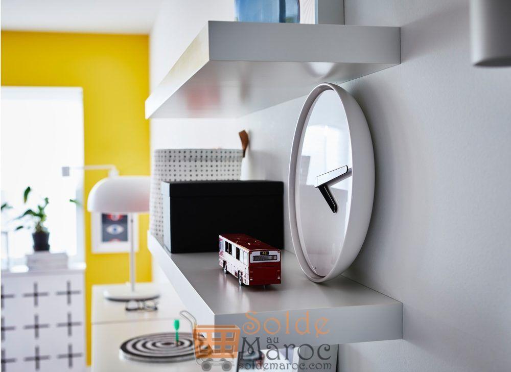 Soldes Ikea Maroc Étagère murale LACK Blanc 129Dhs au lieu de 149Dhs