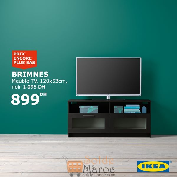 soldes ikea maroc meuble tv brimnes 899dhs au lieu de. Black Bedroom Furniture Sets. Home Design Ideas