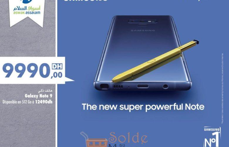 Nouveau Samsung Galaxy Note9 est disponible chez Aswak Assalam 9990Dhs