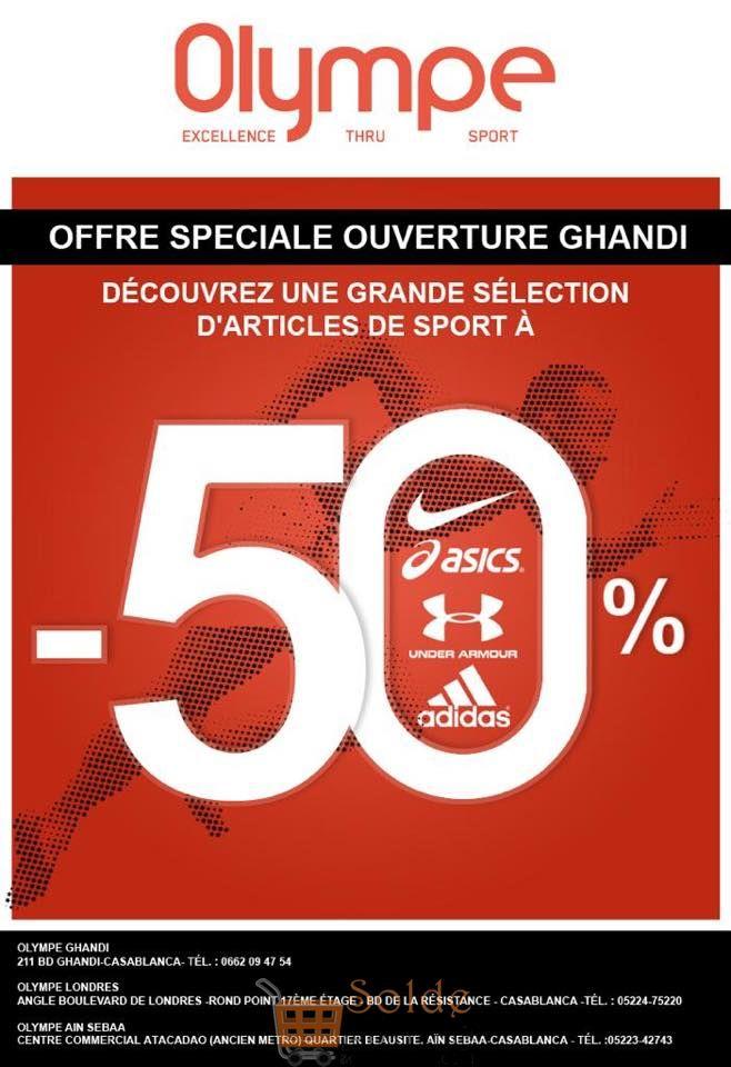 Promo Olympe Store Ghandi -50% sur une sélection d'articles