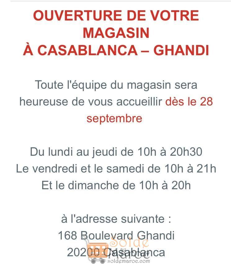Ouverture nouveau magasin Orchestra Maroc Bd Ghandi Casablanca