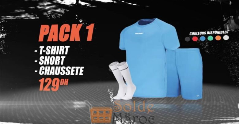 Photo of Promo Sport Zone Maroc Pack T-SHIRT Short Chaussette 129Dhs