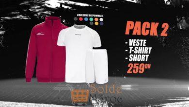 Promo Sport Zone Maroc Pack Veste T-SHIRT Short 259Dhs