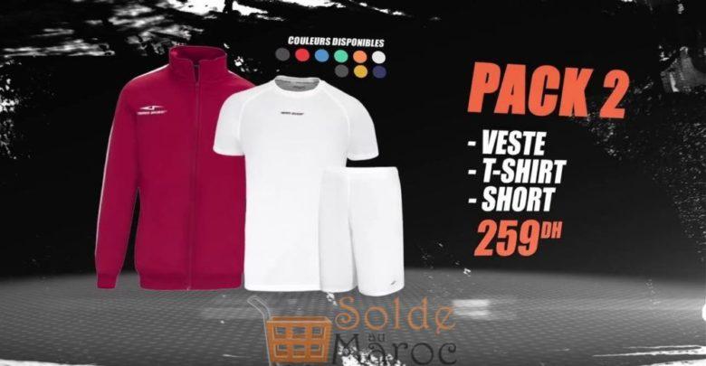 Photo of Promo Sport Zone Maroc Pack Veste T-SHIRT Short 259Dhs