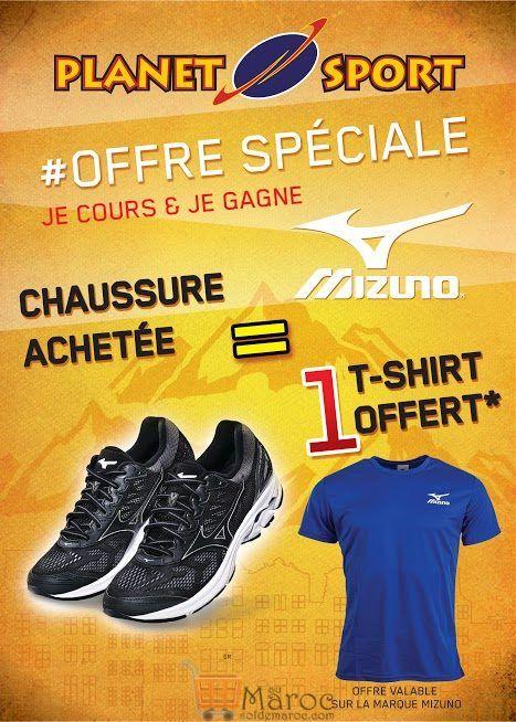 Offre Spéciale Planet Sport 1 chaussure Acheté = 1 t-shirt Offert