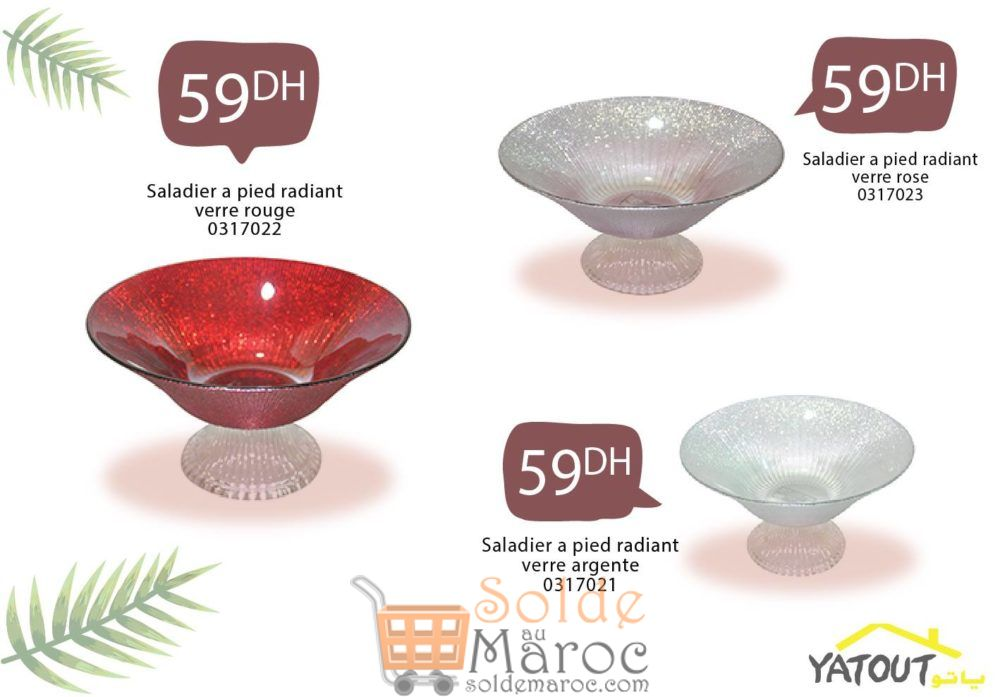 Nouvelle Collection Saladier chez Yatout Home 59Dhs