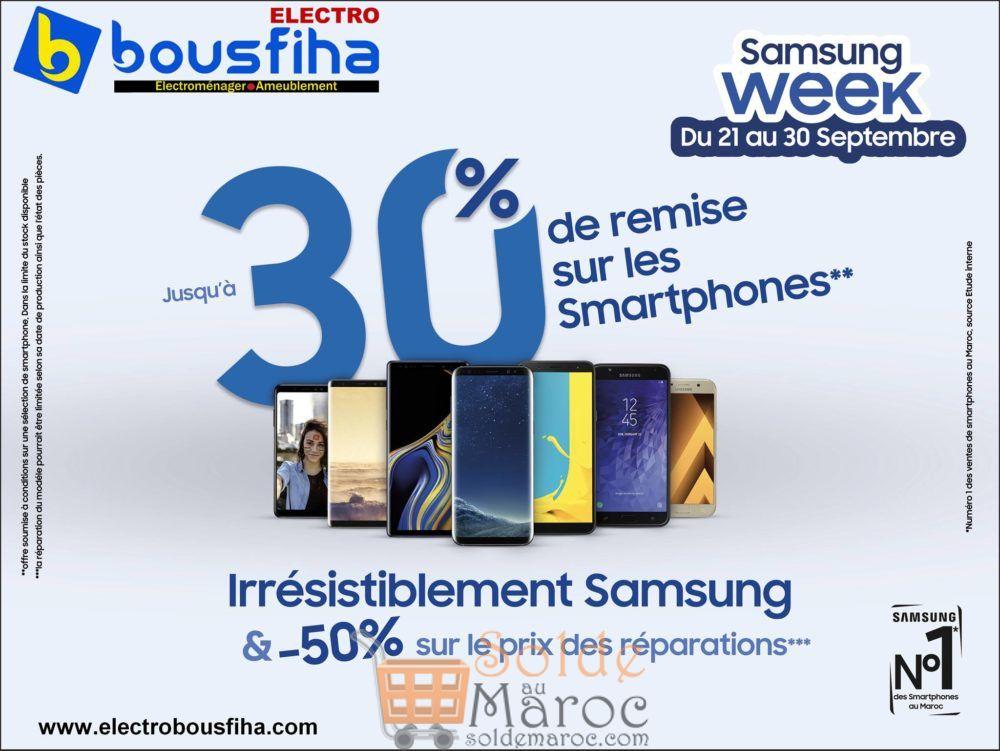 Samsung Week chez Electro Bousfiha jusqu'à -30% de remise