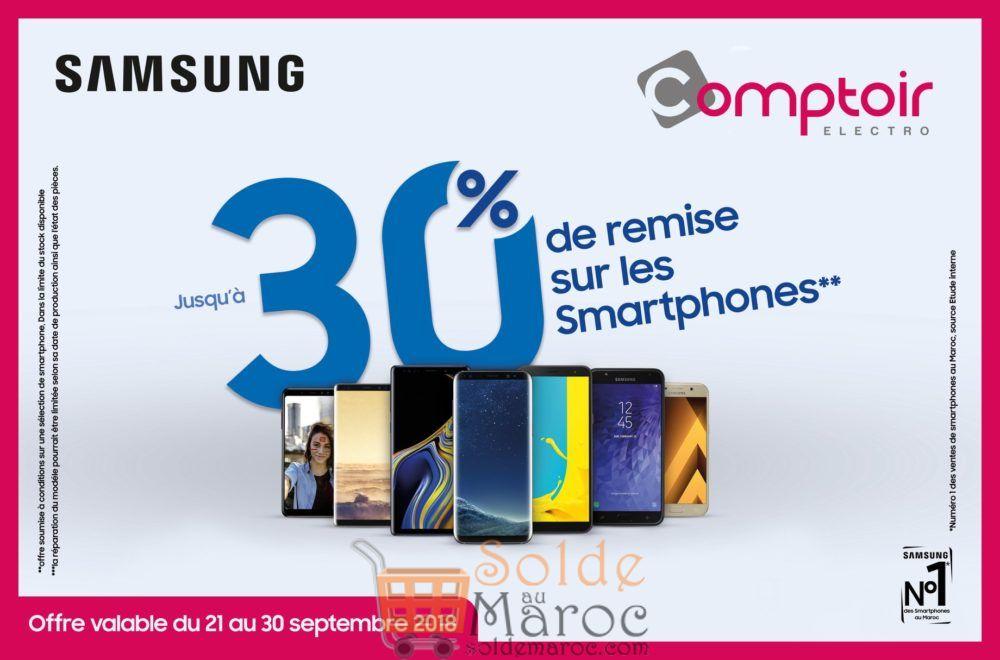 Promo Le Comptoir Electro 30% de Remise sur les Smartphones