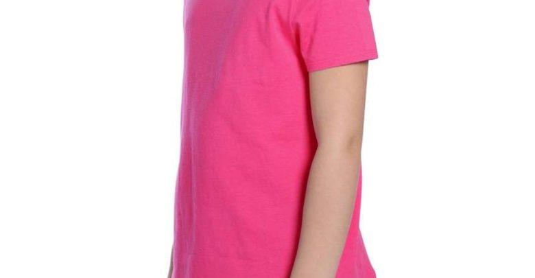 Promo Decathlon T-Shirt DOMYOS Manches courtes 100 Gym Fille rose 19Dhs au lieu de 26Dhs