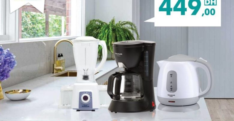 Photo of Promo Aswak Assalam Pack Taurus Blender + Cafetière + Bouilloire 449Dhs