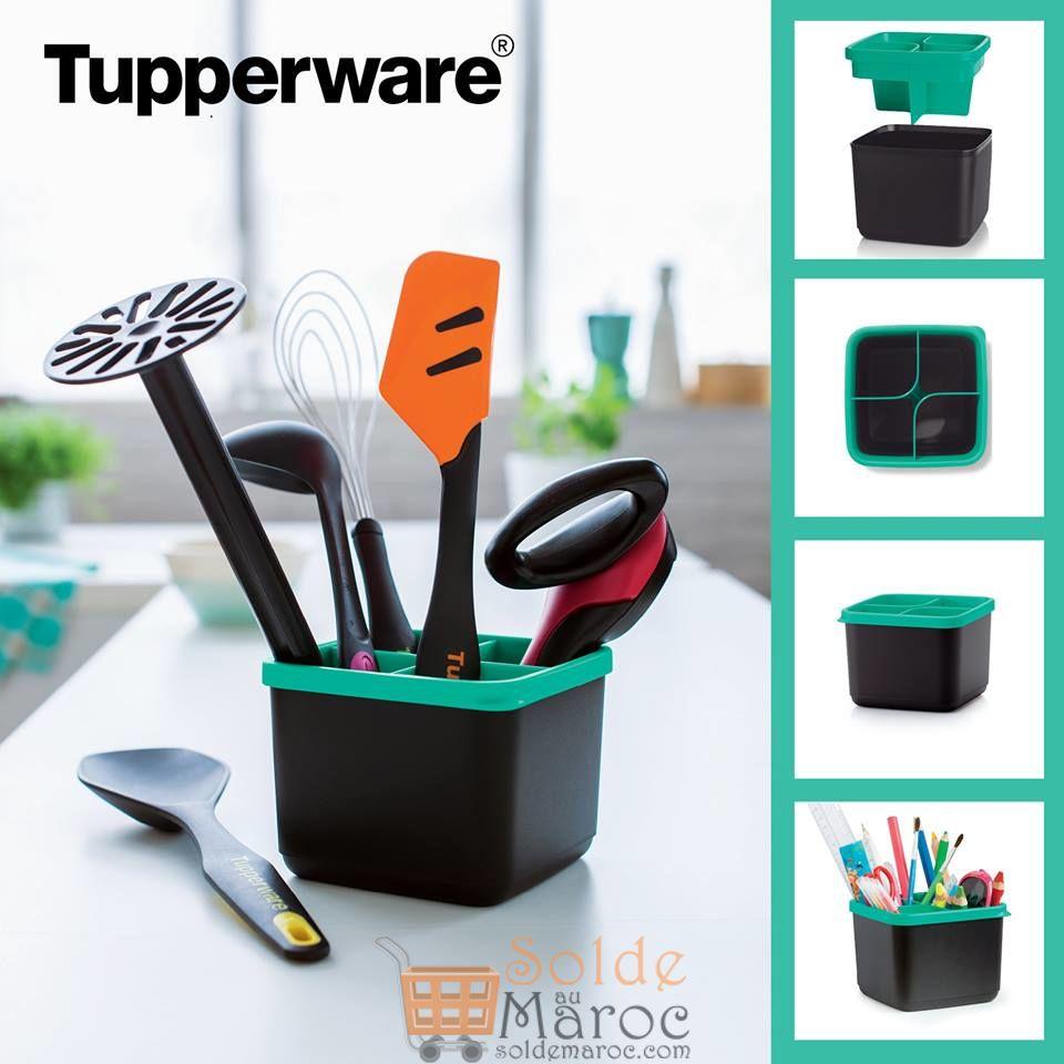 Promo Tupperware Maroc Porte ustensile divisé 1L 98Dhs au lieu de 130Dhs