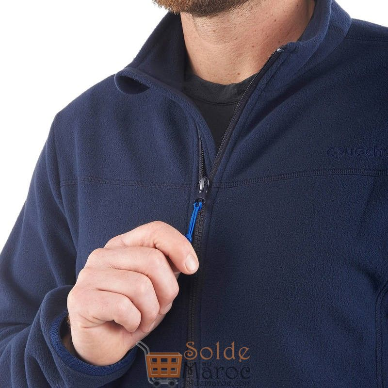 Promo Decathlon Veste Polaire randonnée montagne homme Forclaz 200 bleu 79Dhs