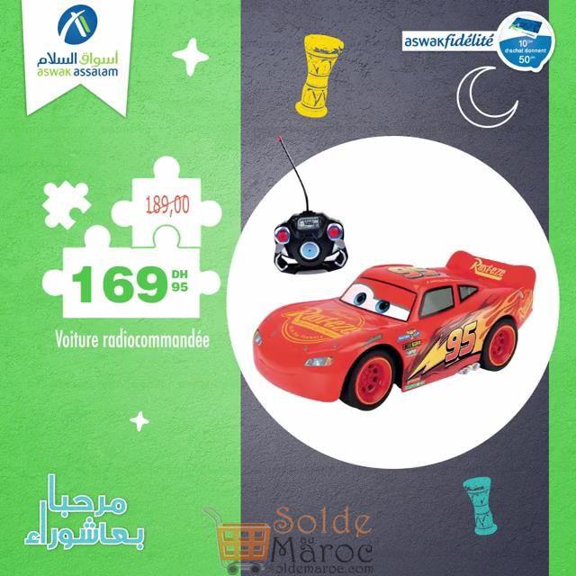 Promo Aswak Assalam Flash cars radiocommandée 169Dhs au lieu de 189Dhs