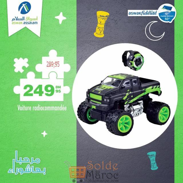 Promo Aswak Assalam Monsters cars radiocommandée 249Dhs au lieu de 289Dhs