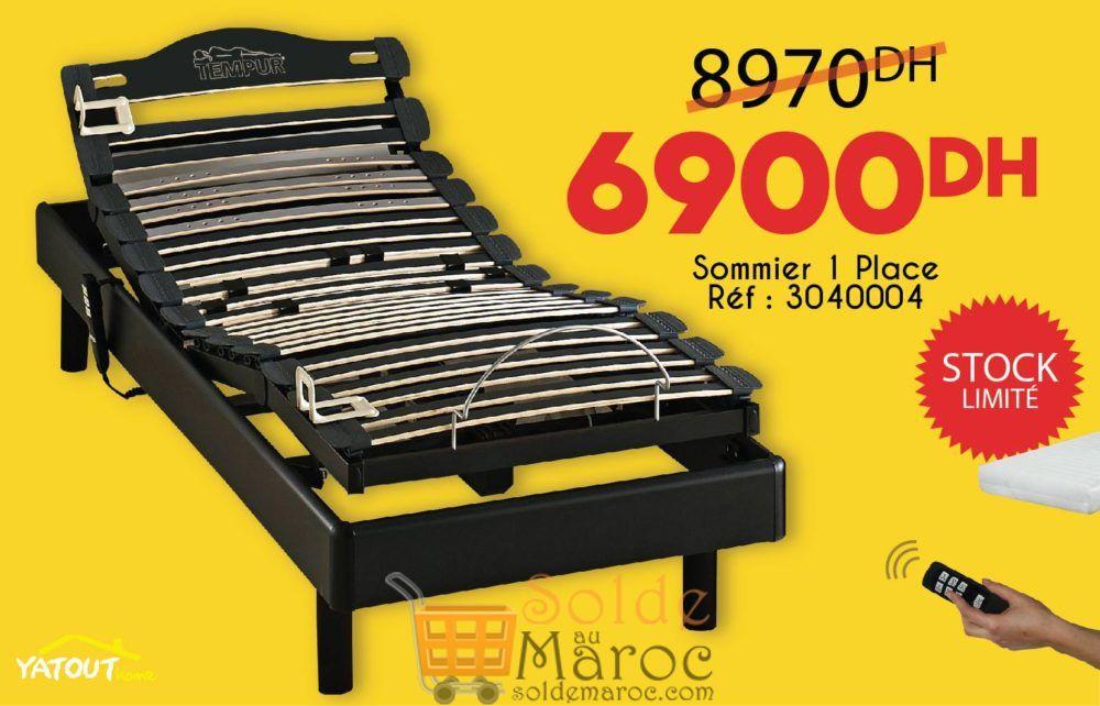 Promo Yatout Home Lit électrique pour le sommeil et la relaxation 6900Dhs au lieu de 8970Dhs