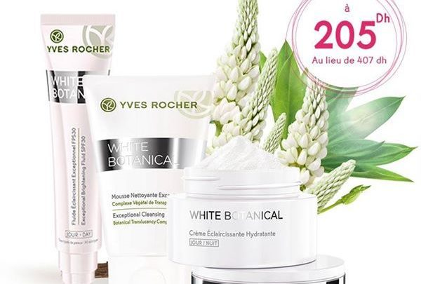 Promo Yves Rocher Maroc Pack White Botanical 205Dhs au lieu de 407Dhs