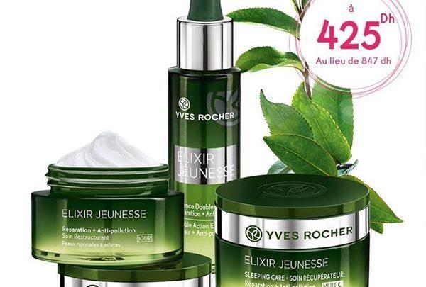 Photo of Promo Yves Rocher Maroc Pack Elixir Jeunesse 425Dhs au lieu de 847Dhs