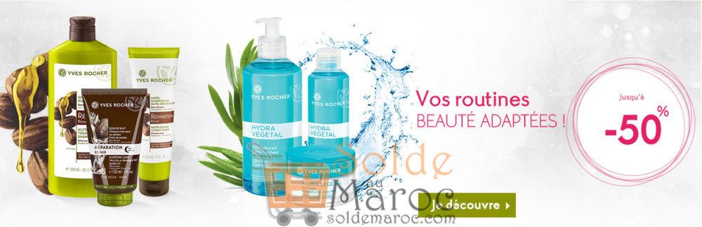 Promo Yves Rocher Maroc Vos routines Beauté adaptée jusqu'à -50%