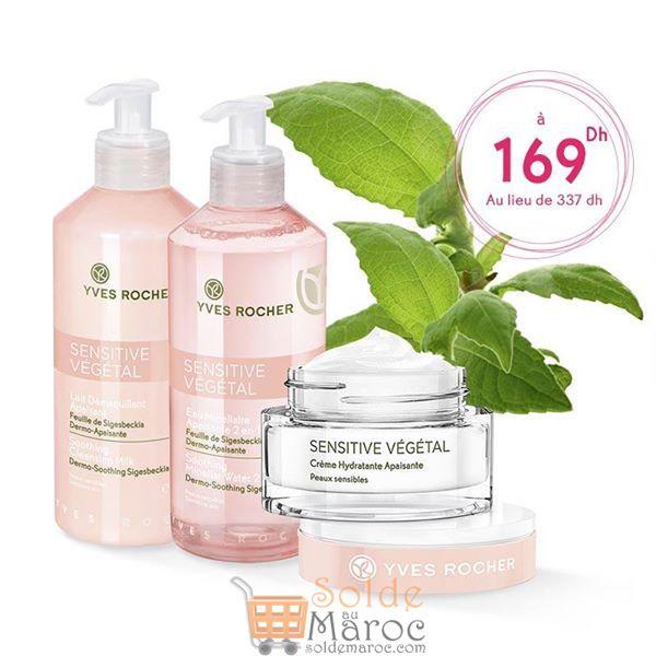 Promo Yves Rocher Maroc Pack Sensitive Végétal 169Dhs au lieu de 337Dhs