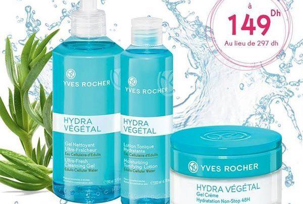 Promo Yves Rocher Maroc Pack Hydra Végétal 149Dhs au lieu de 297Dhs