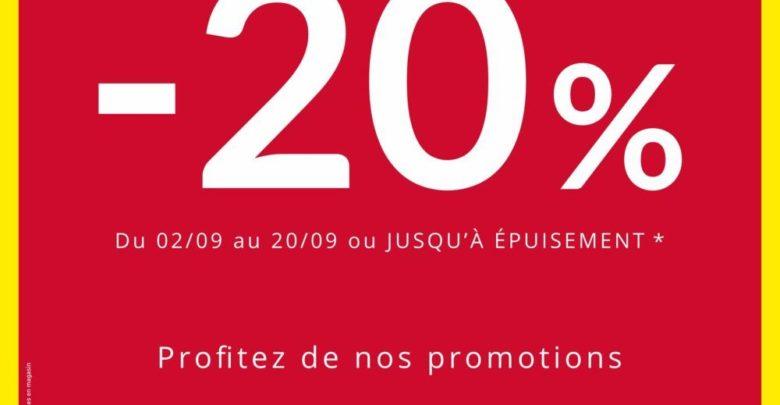 Promo ZARA HOME -20% sur une sélection d'articles du 2 au 20 Septembre