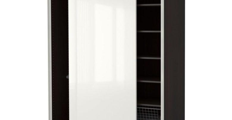 Soldes Ikea Maroc Penderie PAX noir-brun Brillant Hasvik blanc 4832Dhs au lieu de 6040Dhs