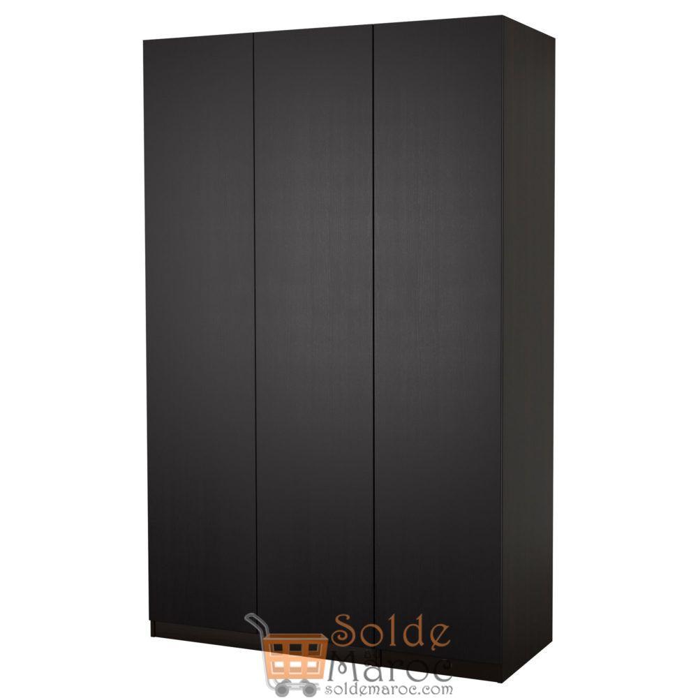 Soldes Ikea Maroc Penderie PAX noir-brun Nexus brun-noir 4140Dhs au lieu de 5175Dhs