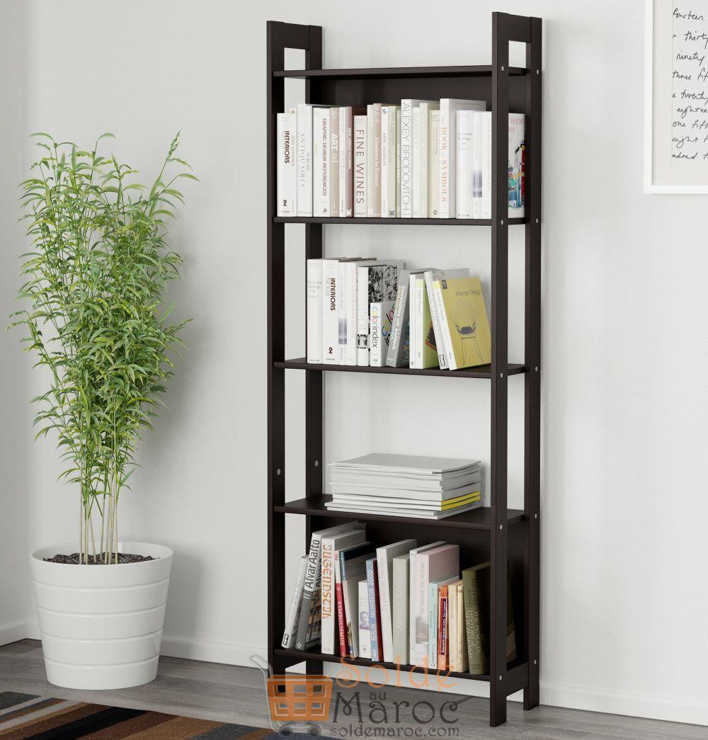 Offre Spéciale Ikea Maroc Bibliothèque LAIVA noir-brun 349Dhs