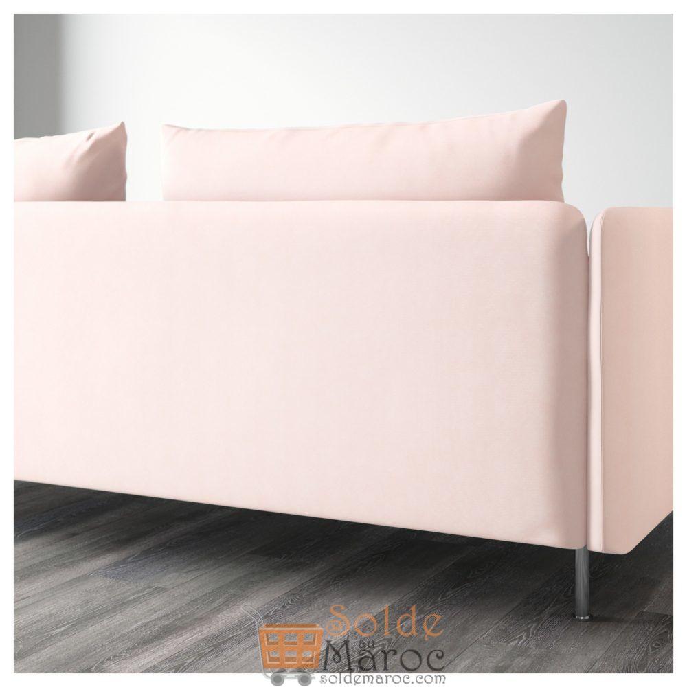 Soldes Ikea Maroc Canapé 4 places SÖDERHAMN avec méridienne rose clair Samsta 8990Dhs au lieu de 10975Dhs
