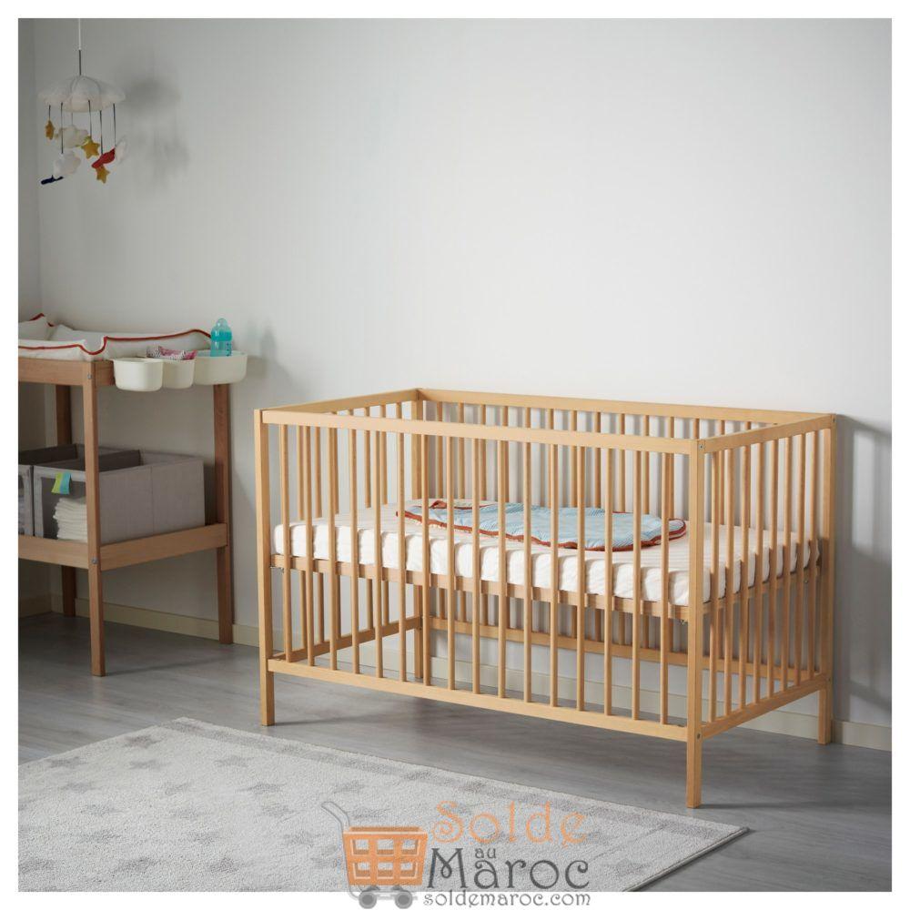 Offre Spéciale Ikea Maroc Lit bébé SNIGLAR hêtre 849Dhs