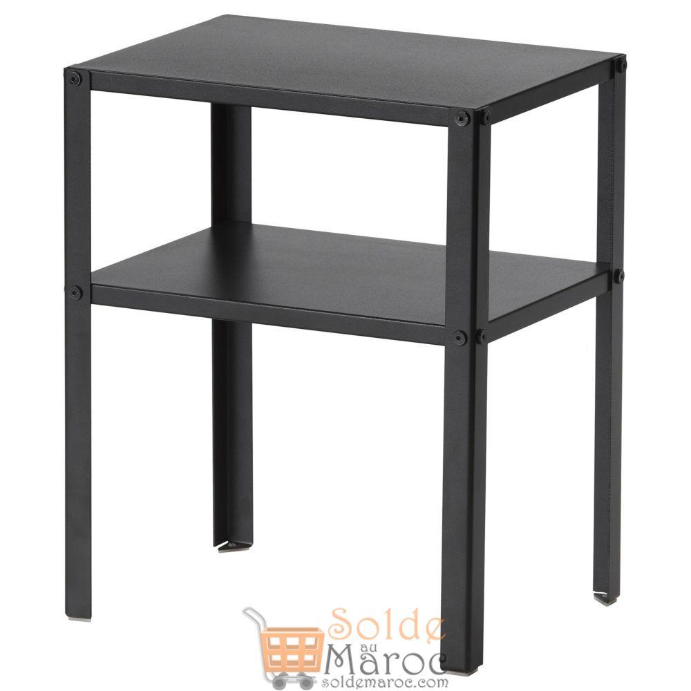 Offre Spéciale Ikea Maroc Table de chevet KNARREVIK noir 149Dhs