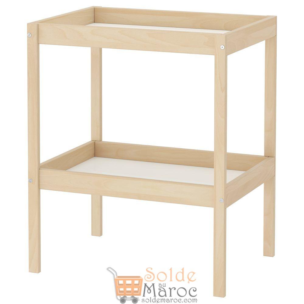 Offre Spéciale Ikea Maroc Table à langer SNIGLAR hêtre blanc 349Dhs