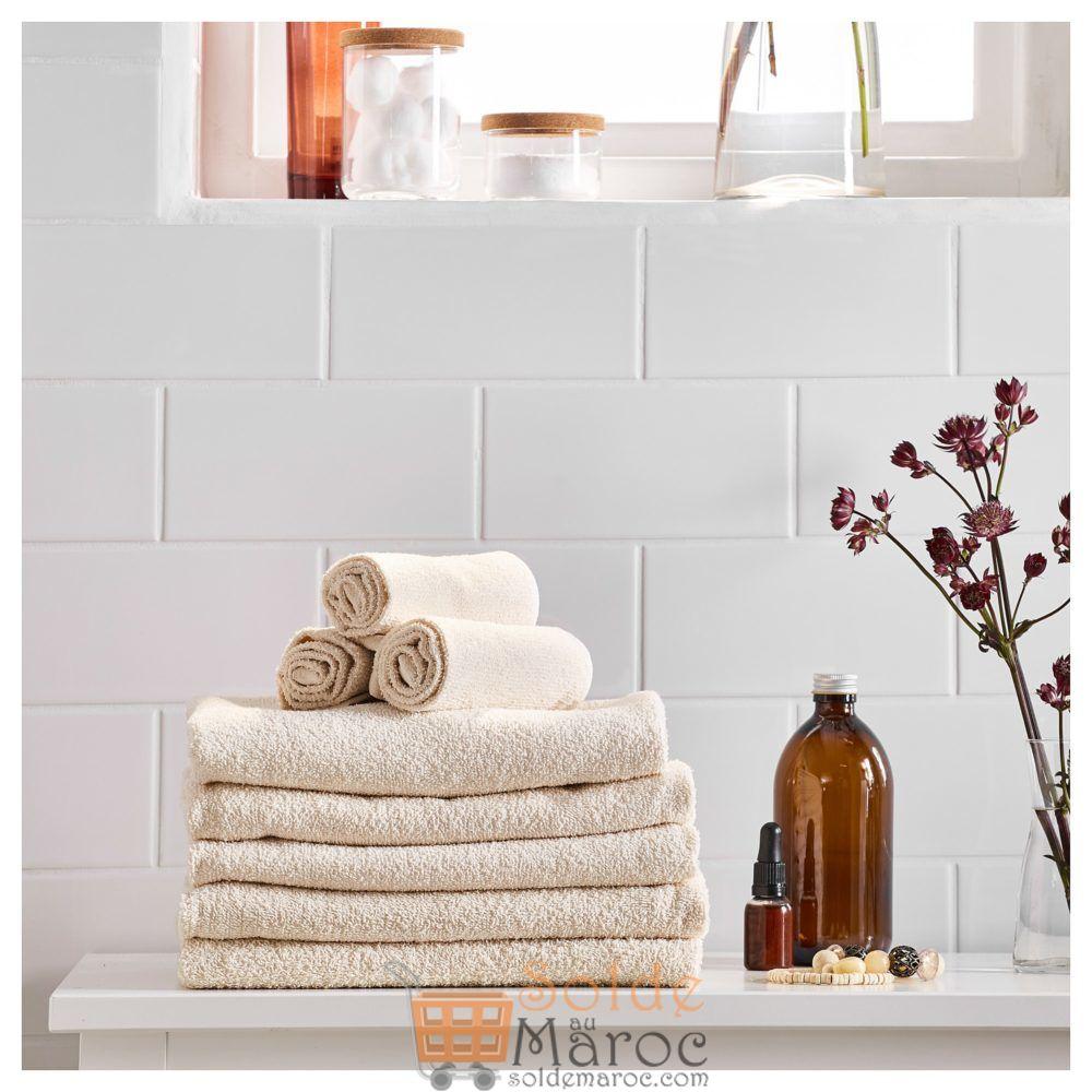 Offre Spéciale Ikea Maroc Drap de bain LEJAREN naturel 25Dhs