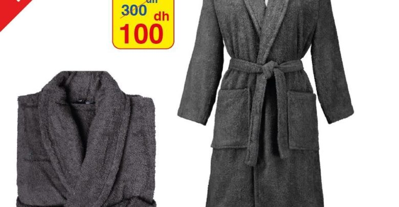 Photo of Promo Alpha55 Peignoir sortie de bain 100Dhs au lieu de 300Dhs