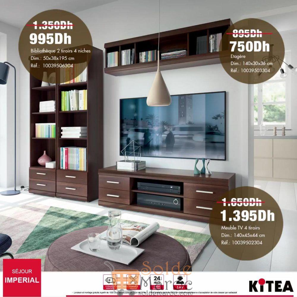 Promo Kitea Meuble TV 4 tiroirs Imperial 1395Dhs au lieu de 1650Dhs