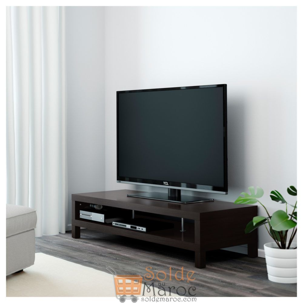 soldes ikea maroc meuble tv lack noir brun 649dhs au lieu. Black Bedroom Furniture Sets. Home Design Ideas