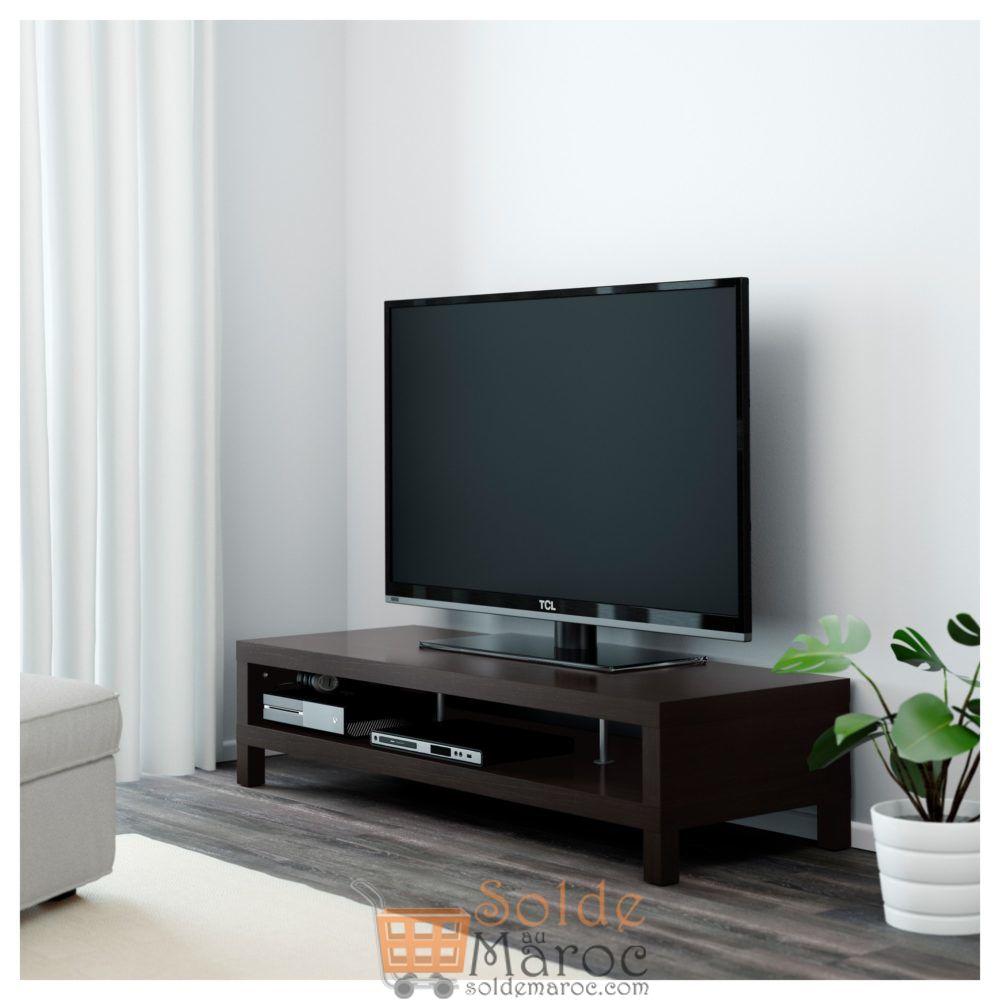Soldes Ikea Maroc meuble TV LACK noir-brun 649Dhs au lieu de 799Dhs