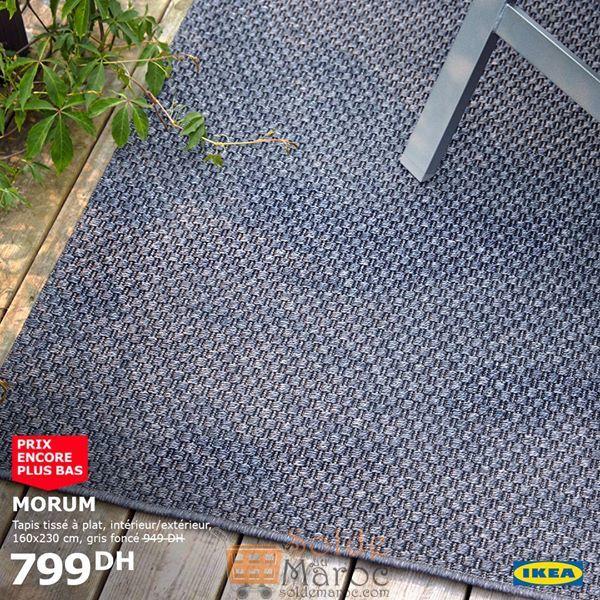 Soldes Ikea Maroc Tapis tissé à plat MORUM 799Dhs au lieu de 949Dhs