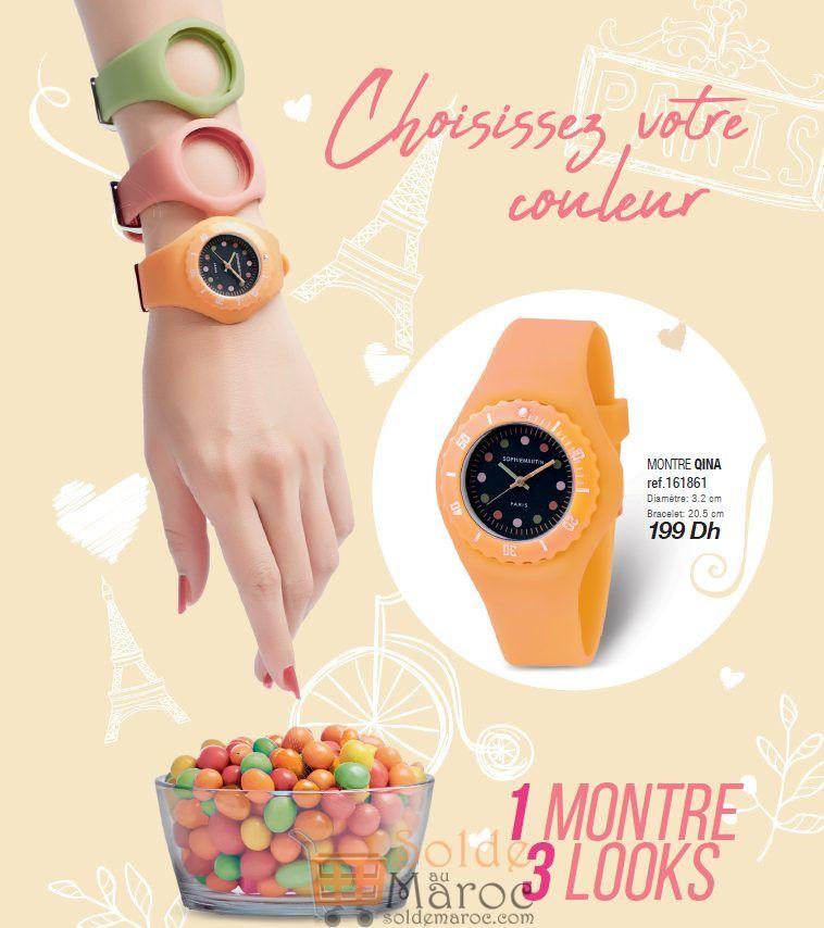 Nouveau chez Sophie Paris Maroc Montre QINA une montre 3 look