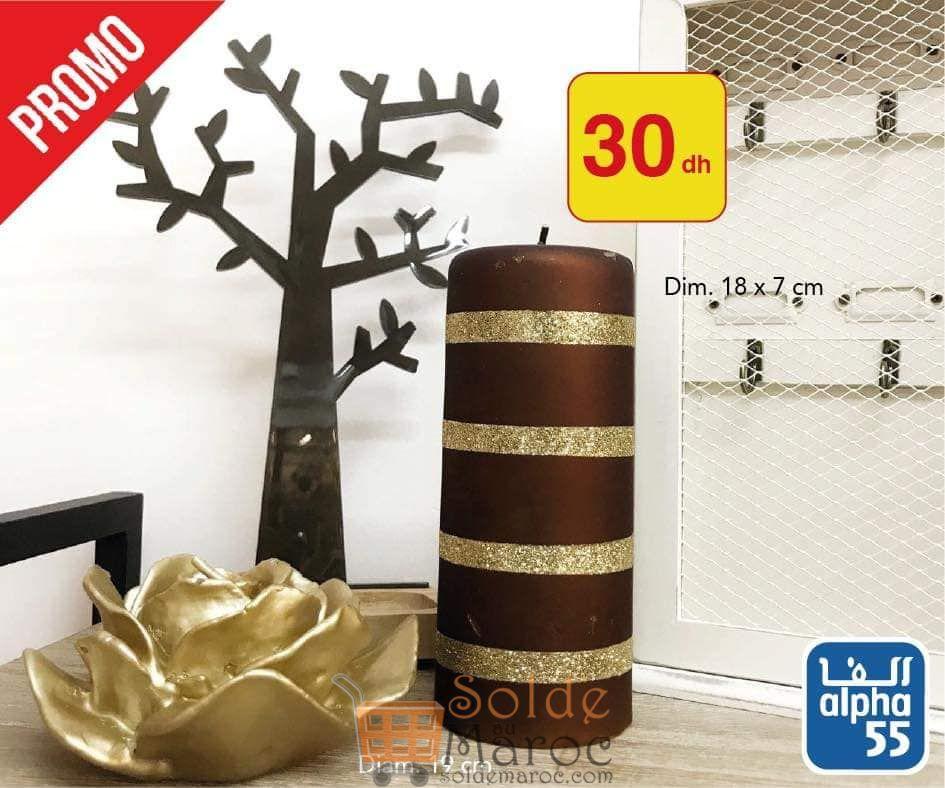 Promo Alpha55 Bougies Parfumées à partir de 10Dhs