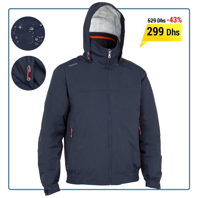 meilleure sélection 79826 6242d Soldes Decathlon Maroc Blouson chaud bateau homme 100 bleu ...