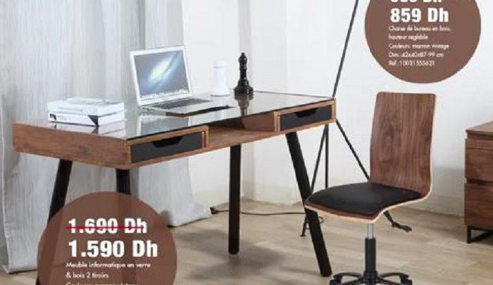 Soldes Kitea Bureau et chaise gamme RETRO