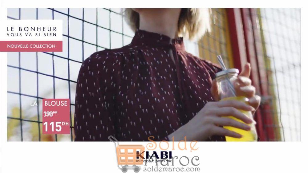 Promo Kiabi Maroc Blouse femme 115Dhs au lieu de 190Dhs