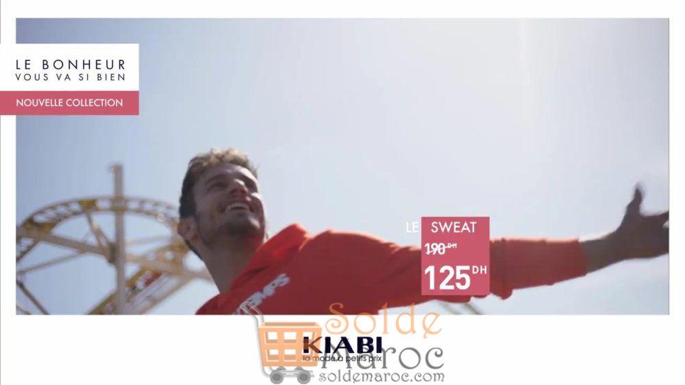 Promo Kiabi Maroc Sweat-shirt Homme 125Dhs au lieu de 190Dhs
