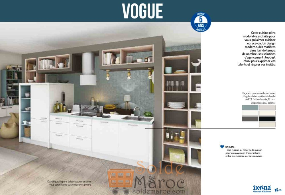 catalogue 2018 ixina german kitchens solde et promotion du maroc. Black Bedroom Furniture Sets. Home Design Ideas