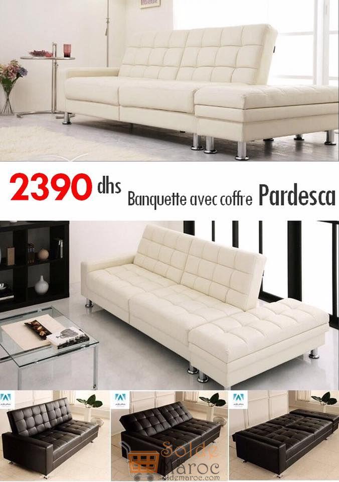 Promo Azura Home Banquette Clic Clac PARDESCA blanc 2390Dhs au lieu de 2937Dhs