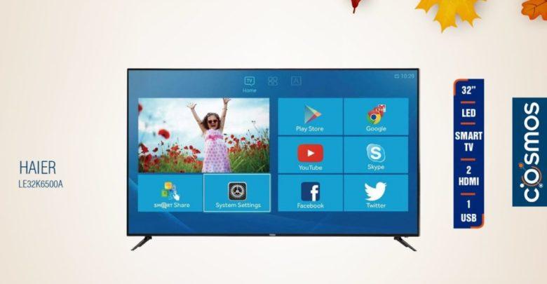 Promo Cosmos Electro Smart TV 32° HAIER 2490Dhs au lieu de 2990Dhs