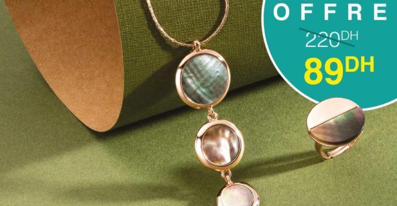 Promo Avon Sautoir élégant et Bague en perle ultra-design 89Dhs au lieu de 220Dhs