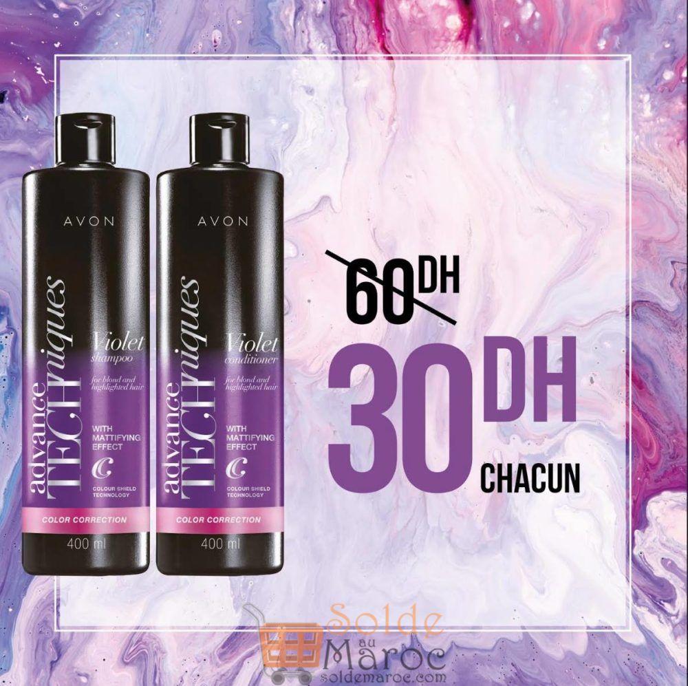 Promo Avon Maroc Advance Technique Shampoo & Conditioner 30Dhs chacun au lieu de 60Dhs